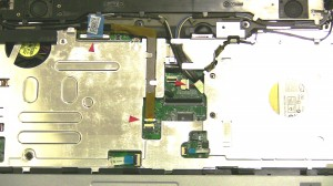 Pull the WIFI cables through the motherboard routing hole.