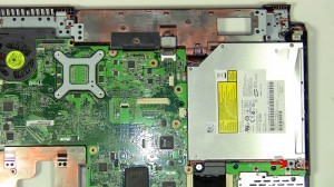 Remove the optical drive from the motherboard.