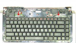 Unscrew the (2) 2mm x 3mm screws for the keyboard.