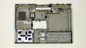 The remaining piece in the laptop base assembly.