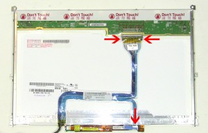 Unplug the LCD cable from the LCD screen and inverter.
