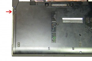 Pull the optical drive latch to slide the drive out of the laptop.