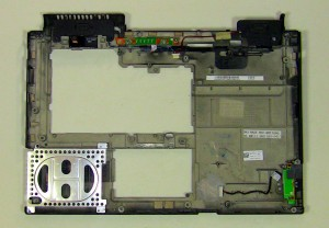 The remaining part will be the laptop bottom base assembly.