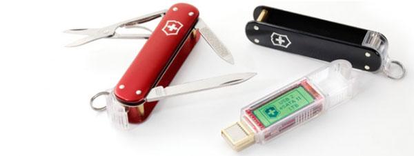 1tb Swiss Army Ssd Usb Esata Ii Flash Drive Knife With Lcd