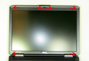 Dell Inspiron 1420 Vostro 1400 PP26L LCD Cable Removal