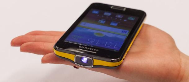Samsung Galaxy Beam Projector Phone A Quick Look