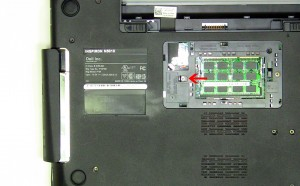 Remove the optical drive locking screw.