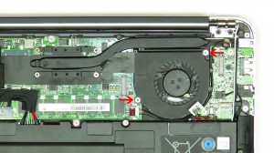 Remove the fan from the ultrabook.