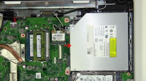 Remove the optical drive screw.