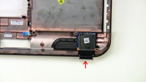 Remove the SD card reader screw.