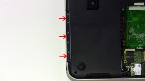 Remove the 2 screws under the battery.
