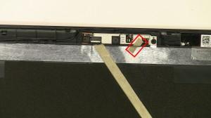 Remove the web camera tape.
