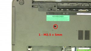 Remove the 1 - M2.5 x 5mm optical drive screw.