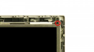 Remove the screen screws,