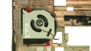 Remove the fan screws.