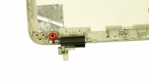 Remove the left & right hinge screws.