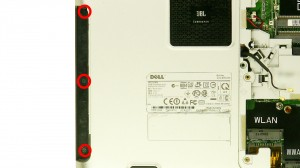 Remove the screws under the optical drive.