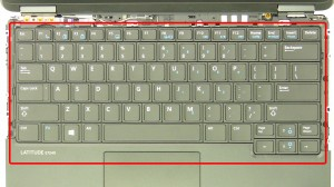 Remove the top keyboard screws.