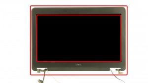 Unsnap the bezel around the edges of the screen.