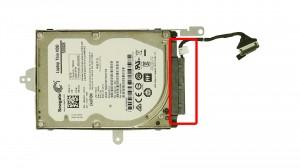 Remove the hard drive caddy screws.