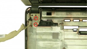 Remove the left & right hinge screws.
