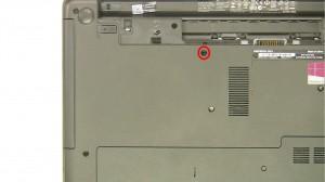 Remove the optical drive screw.