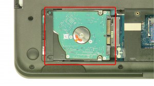 Remove the hard drive screws.