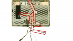 Remove the LCD digitizer camera cable.