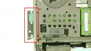 Remove the 4 - M3 x 5mm primary hard drive screws.