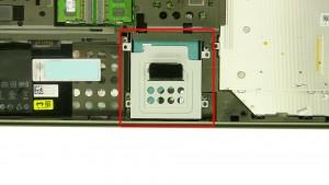 Remove the 3 - M3 x 3mm secondary hard drive screws.