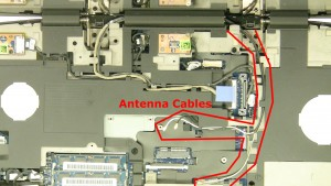 Unplug & loosen the antenna cables.