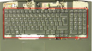 Remove the keyboard screws.