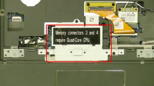 Remove the memory cover screws.