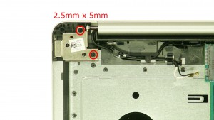 Remove the right hinge screws.