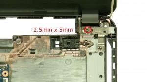 Remove the right hinge screws.