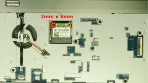 Remove the screw.(1 x M2 x 3mm)