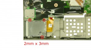 Remove the 3 - M2 x 3mm screws.