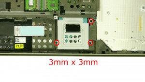 Remove the 3 - M3 x 3mm secondary hard drive screws.