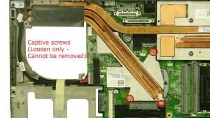 Loosen the heatsink screws.
