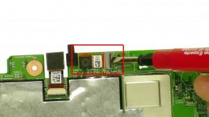 Unplug & remove the Front Facing Camera.