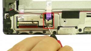 Unplug & loosen the touchscreen cable.