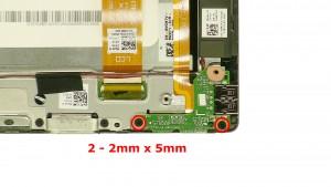 Remove the 2 - M2 x 5mm screws.