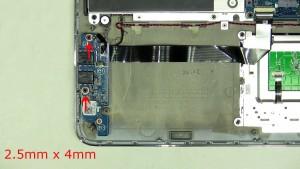 Remove the 2 screws (2 x M2.5 x 4mm).