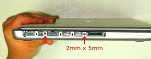 Remove the screws under the bezel (2 x M2 x 5mm).