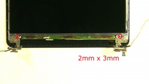 Remove the 4 - M2 x 3mm LCD screws.