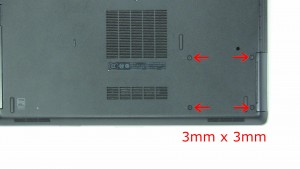Remove the hard drive screws (3 x M3 x 3mm).