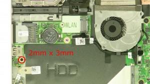 Remove the screw (1 x M2 x 3mm).
