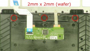 Remove the screws (3 x M2 x 2mm wafer).