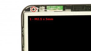 Remove the 2 - M2.5 x 5mm top LCD screws.