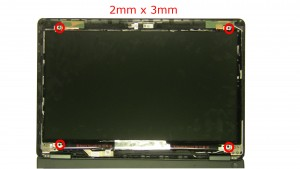Remove LCD screws (4 x M2 x 3mm)